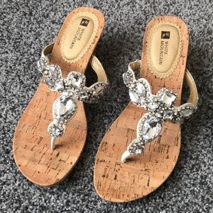 White Mountain Sparkly Sandals